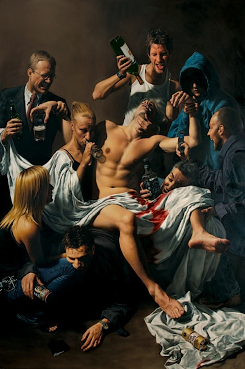Inebriated Nation by Mitch Griffiths, Oil on Canvas