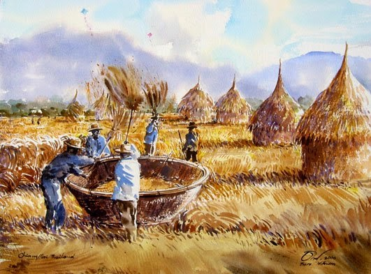 thailand-watercolor-painting-thanakorn-chaijinda-4